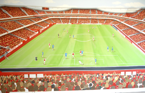 Inspire murals for Emirates stadium mural