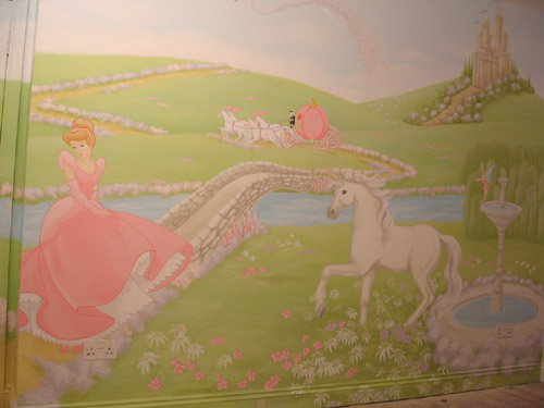 Cinderella wall mural for Cinderella wall mural