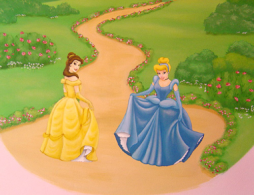 Inspire murals disney princess wall mural for Disney princess mural asda