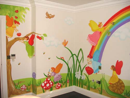 Inspire murals fairy wall mural for Fairies wall mural