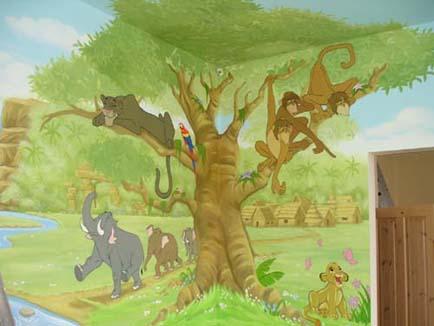 junglebook wall mural. Childrens Wall Murals   Childrens Murals Essex Childrens Wall