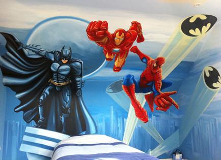 superhero cityscape mural cityscape superheroes dc comics original superhero montage large wall mural