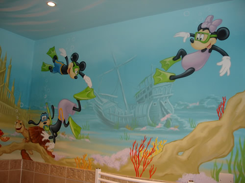 Mickey Mouse Wall Mural Part 63