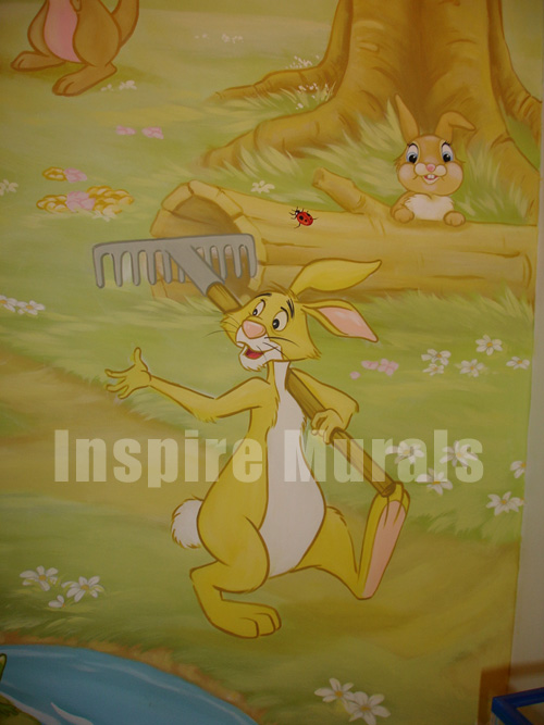 winnie the pooh wall mural. Black Bedroom Furniture Sets. Home Design Ideas
