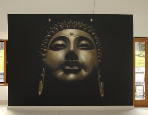 Inspire murals buddha mural for Buddha mural paintings