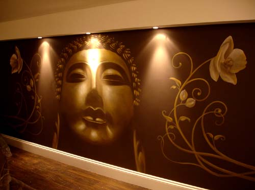 Inspire murals for Buddha mural art