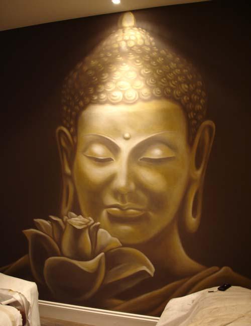 Buddha wall mural for Buddha wall mural